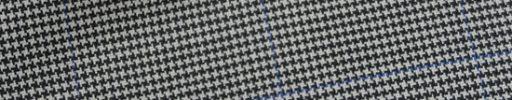 【Bh_0s33】白黒ハウンドトゥース+5.5×4cmブルーチェック