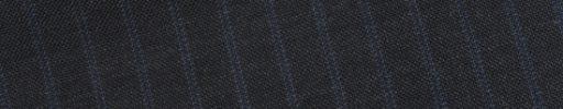 【Bs_0s019】チャコールグレー+7ミリ巾ブルードットストライプ