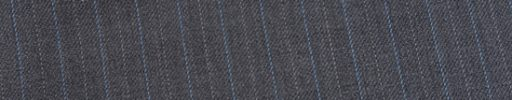 【Ed_0s271】ミディアムグレー+1cm巾ライトブルー・白交互ストライプ