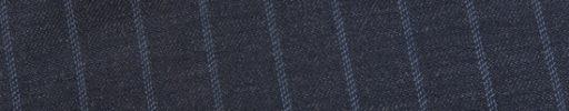 【Ed_0s296】ダークブルーグレー+1.4cm巾ライトブルードットストライプ