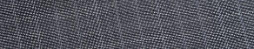 【Ed_0s308】グレー・ピンチェック+9ミリ巾織りストライプ