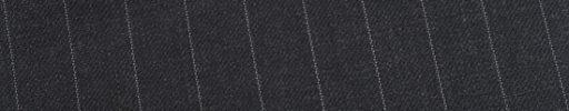 【Ed_0s541】チャコールグレー+1.3cm巾白ストライプ