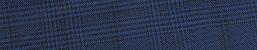 【Ed_0s573】ダークブルー・黒グレンチェック+6×5cm黒チェック