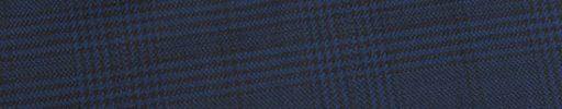 【Ed_0s574】ダークブルーグレー・黒グレンチェック+6×5cm黒チェック