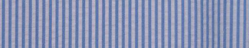 【Brza_18】ライトブルー×ホワイト2ミリ巾ストライプ