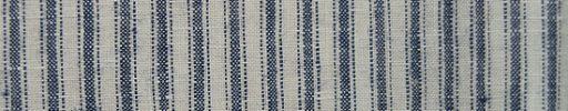 【Brza_27】オフホワイト+8ミリ巾ブルーグレーストライプ