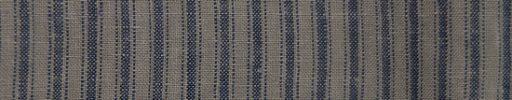【Brza_28】グレージュ+8ミリ巾ブルーグレーストライプ