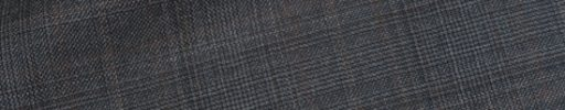 【dov_0w21】グレー6×5cmグレンチェック+ブラウンプレイド
