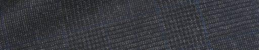【dov_0w41】チャコールグレー5×4.5cmグレンチェック+ブループレイド