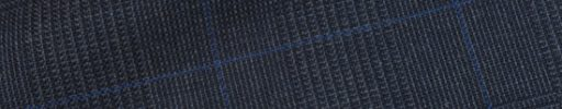 【Fx_ct49】ダークブルー7.5×5.5cmグレンチェック+ブルーペーン