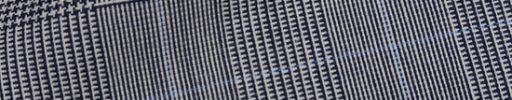 【Fx_ct52】白黒7.5×5.5cmグレンチェック+ライトブルーペーン