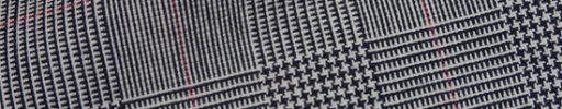 【Fx_ct53】白黒7.5×5.5cmグレンチェック+赤ペーン