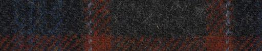 【Ht_6w308】ダークグレー+オレンジ×ネイビー×グレー×ライトグレーチェック