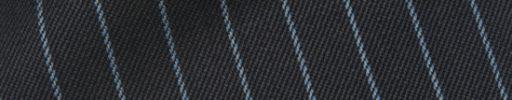 【Cb_0w013】チャコールグレー+1cm巾ライトブルーストライプ