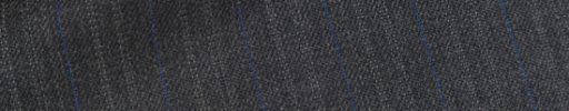 【Ch_0w14】チャコールグレー柄+1.6cm巾ブルー・織り交互ストライプ