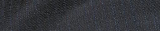 【Ch_0w63】チャコールグレー+1.3cm巾水色・織り交互ストライプ