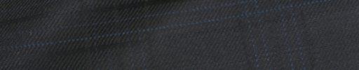 【Ch_0w66】ブラック+7×4.5cm織り・水色チェック