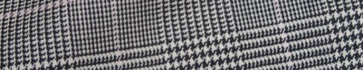 【Ch_0w68】白黒グレンチェック+6×5cmピンクペーン