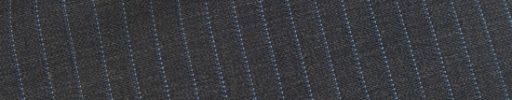 【Ec_0w054】チャコールグレー+7ミリ巾織り・ライトブルーストライプ
