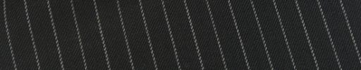 【Ec_0w072】ブラック+8ミリ巾白・織り交互ストライプ
