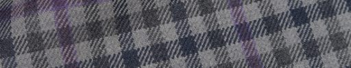 【Hs_0as01】ライトブルーグレー・グレー・ダークグレーガンクラブチェック+6×5cmパープルペーン