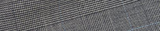 【Hs_0wsr21】白黒グレンチェック+5×4cmライトブルーペーン