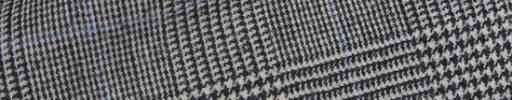 【Hs_0wsr50】白黒グレンチェック+6×5cmライトブルーペーン