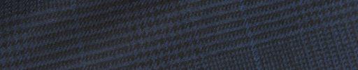 【Hs_0wsr51】ネイビー黒グレンチェック+6×5cmブルーペーン