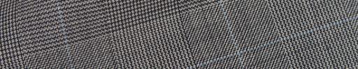 【Hs_op01】白黒グレンチェック+5.5×4.5cmライトブルーペーン