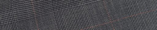 【Hs_op02】グレーグレンチェック+5.5×4.5cmライトレッドペーン