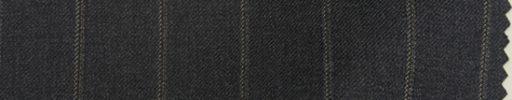 【Mp_0w06】チャコールグレー+1.8cm巾ライトブラウンストライプ
