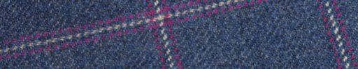 【Ph_oh09】ブルー+7×6cmマゼンタ・白チェック