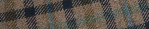 【Ph_oh18】ライトブラウン+ネイビー×カーキ×グリーン×ライトブルー・ガンクラブチェック