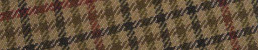 【Ph_oh32】ライトブラウン+カーキ・ダークグレーガンクラブチェック+7×6cmエンジ・オレンジチェック