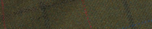 【Ph_oh53】モスグリーン+7×6cmブラウン・ブルー・ダークオレンジチェック