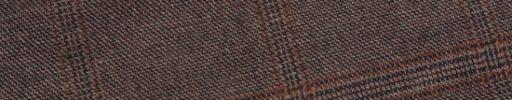 【Sj_0w16】レッドブラウン+6×5cmダークオレンジ・織りチェック