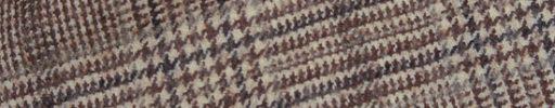 【Sj_0w36】ブラウン・オフホワイトミックス7.5cm×6.5cmグレンチェック