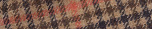 【Sj_0w67】ブラウンミックス・ガンクラブチェック+9×8cmオレンジペーン