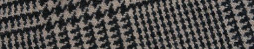 【Sj_0w77】オフホワイト×黒11×9cmグレンプレイド