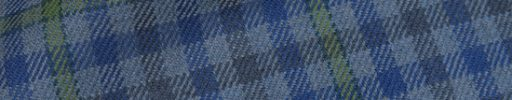 【Hs_0as03】ライトブルー・ブルー・グレーガンクラブチェック+6×5cmグリーンペーン