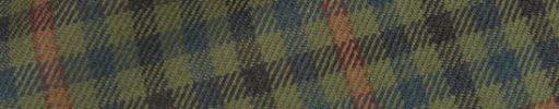 【Hs_0as04】ライトグリーン・グリーン・ブラウンガンクラブチェック+6×5cmオレンジペーン