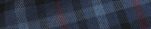 【Hs_0as18】ネイビー+黒チェック+6×5cm赤・水色チェック