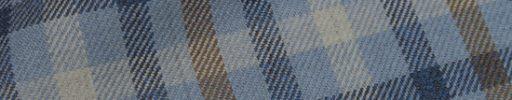 【Hs_0as19】ライトブルー+ネイビーチェック+6×5cm白・ブラウンチェック