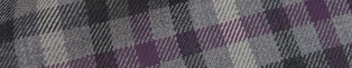 【Hs_0as20】ライトグレー+ダークグレーチェック+6×5cm白・パープルチェック
