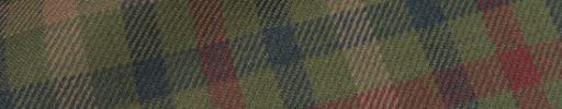 【Hs_0as21】モスグリーン+グリーンチェック+6×5cmベージュ・赤チェック