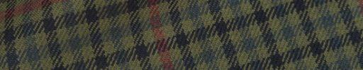 【Hs_0as22】モスグリーン・グリーン・ネイビーガンクラブチェック+6.5×5.5cm赤チェック