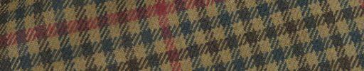【Hs_0as23】ライトブラウン・カーキ・グリーンガンクラブチェック+6.5×5.5cm赤チェック