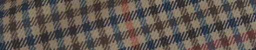 【Hs_0as24】ベージュ・カーキ・ネイビー・ブルーガンクラブチェック+6.5×5.5cmオレンジ×赤チェック