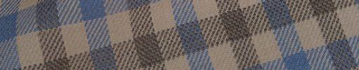 【Hs_0as27】ベージュ・ブルー・ブラウン3.5×2.5cmガンクラブチェック