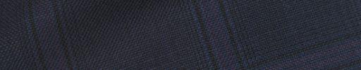 【Hs_0pc28】ダークブルーグレー+5.5×4.5cm黒・パープルチェック